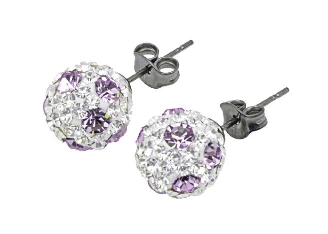 Tresor Paris 10mm Lilac Poke A Dot Large BonBon Stud Earrings