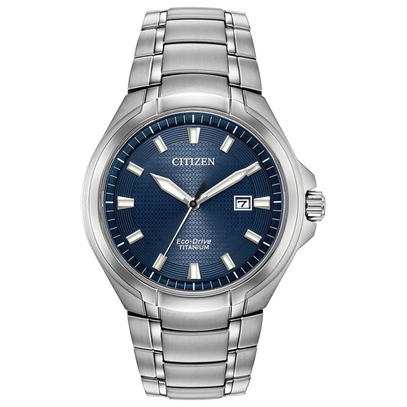 BM7431-51L Citizen Watch Titanium Blue Dial Bracelet Eco-Drive
