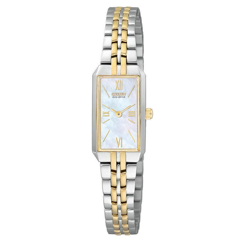 EG2694-59D Citizen Watch Stainless Steel with Yellow Gold Ion Plating Eco-Drive Ladies