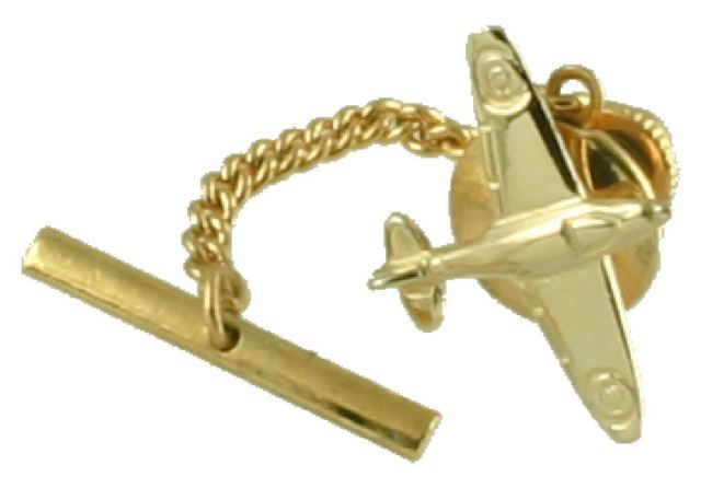 Gold Spitfire Tie Pin  Tie Tac