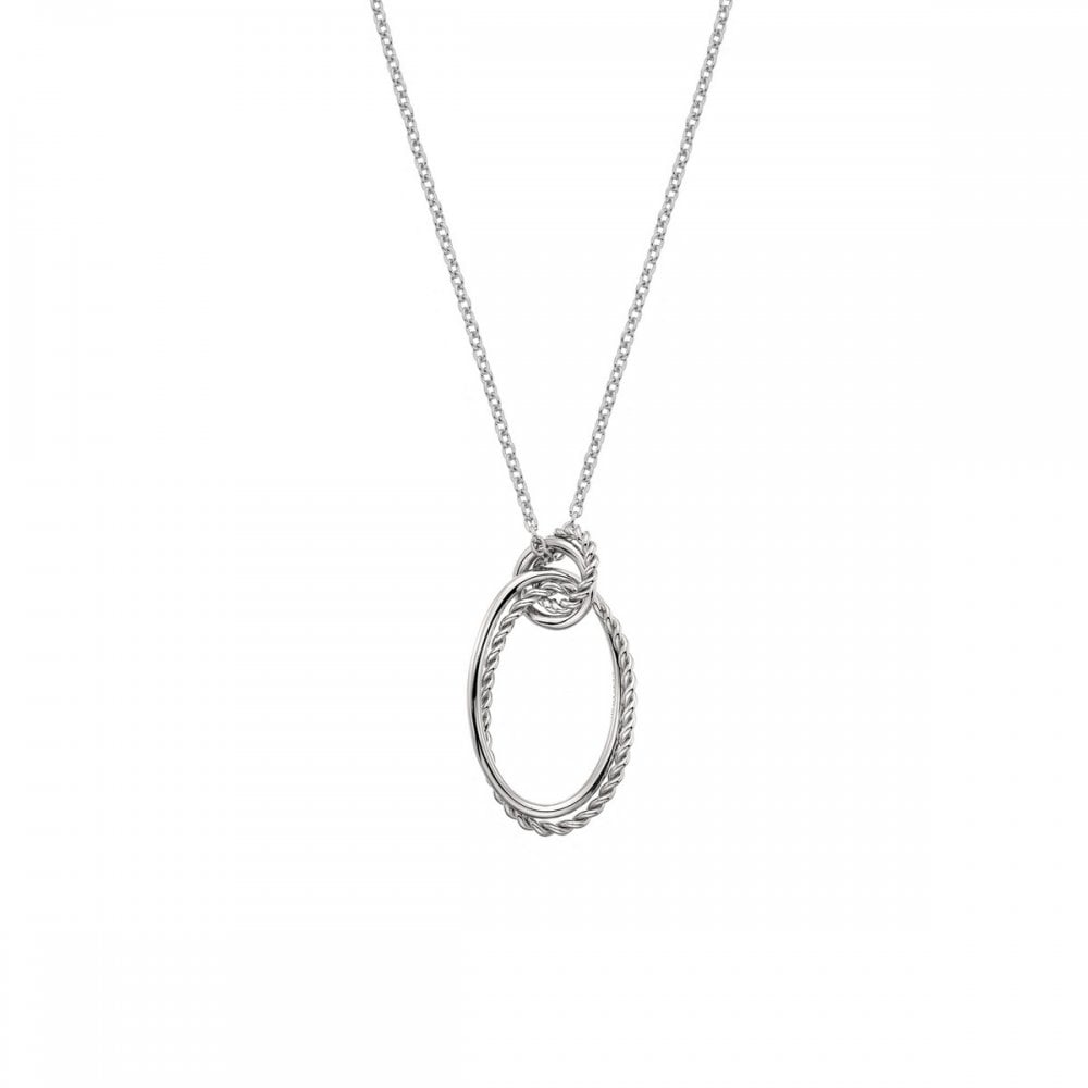 Round Circle Hot Diamonds Sterling Silver Necklace DP737